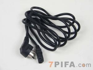 3米 品字尾0.75平方通用三插对铜芯国标电源线[无包装]