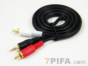 [加粗]1.5米 3.5/2RCA 高品质全铜音频线[带包装]