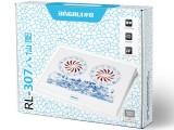 RL-307 八仙图冰锐青花瓷笔记本高级散热垫\散热风扇