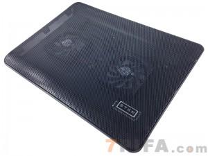 [黑色]Y-215A 冰蝶全铁网面高性能笔记本电脑散热器\散热垫