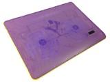 [黄紫色-双14寸风扇]Y-215A 零下冰封笔记本高性能散热器散热垫
