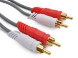 3米 晶华 2RCA/2RCA 全铜高保真灰色系列音频线