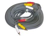 5米 晶华 3RCA/3RCA 全铜高保真灰色系列音频线