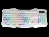 [黑+白两色-彩虹版缝隙发光]KB-10 名雕装机王冰蓝字符发光/背光炫酷版精品键盘[USB]
