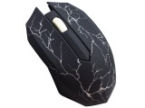 [黑色]LLS-6105 雷凌狮裂纹七彩呼吸灯USB有线鼠标[含配重铁块]