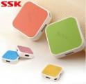 SSK 飚王SHU029缤纷高速电脑集线器 USB HUB 一拖四 usb分线器