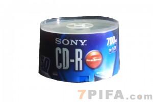 SONY桶装CD-R空白刻录光盘50张