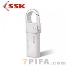 [32G]SSK飚王u盘小七 SFD257挂钩迷你刻字U盘 车载u盘