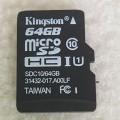 64G MicroSD Kingston金士顿TF闪存卡