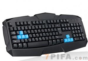 [USB]F1追光豹超级金刚炫酷游戏键盘