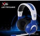 [白蓝]X6 欧凡豪华高级游戏 大耳罩式电脑多媒体立体声耳麦
