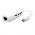USB Type-C转网线集线器百兆免驱2.0 HUB网卡type-c转RJ45