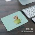 茶杯小猫方形鼠标垫[260X210X3MM]