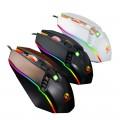 [跑马灯黑金色]X2力镁绝地求生RGB炫彩发光游戏竞技鼠标