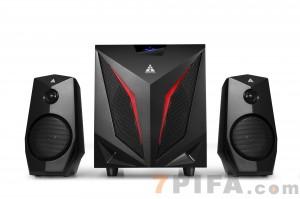 K2 金河田蓝牙游戏音响低音炮 多媒体电脑音箱 台式木质2.1