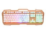 [朋克版土豪金]K22力镁金属面板彩虹发光游戏键盘