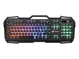 [朋克版魅力黑]K22力镁金属面板彩虹发光游戏键盘