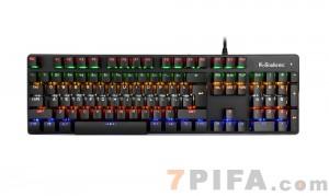 [经典黑]蝰蛇G100蒸汽游戏电竞真机械键盘青轴有线电脑外接USB键盘