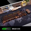 [U+U单色版橙色光]KM320 蝰蛇电脑游戏发光键鼠套装