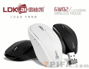 [黑色]雷迪凯GW02无线鼠标办公商务通用USB电脑笔记本光电鼠标