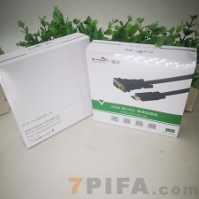 [精品盒装] 1.8米HDMI转VGA铭豹高清连接线