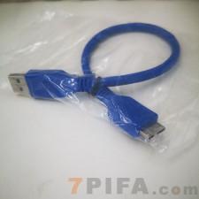 0.3米USB 3.0移动硬盘数据线 USB3 0转micro-b数据线全铜