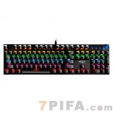 [黑色]W929合金面板青轴电脑游戏机械键盘