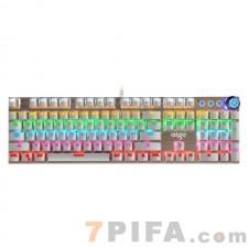 [白色]W929合金面板青轴电脑游戏机械键盘
