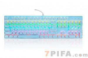 [蓝色]爱国者930复古朋克圆键帽游戏机械键盘