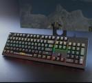 爱国者W 931七彩RGB104键全键无冲人体工学悬浮真机械轴体键盘