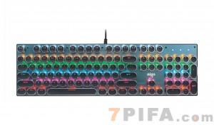 [黑色]爱国者930复古朋克圆键帽游戏机械键盘